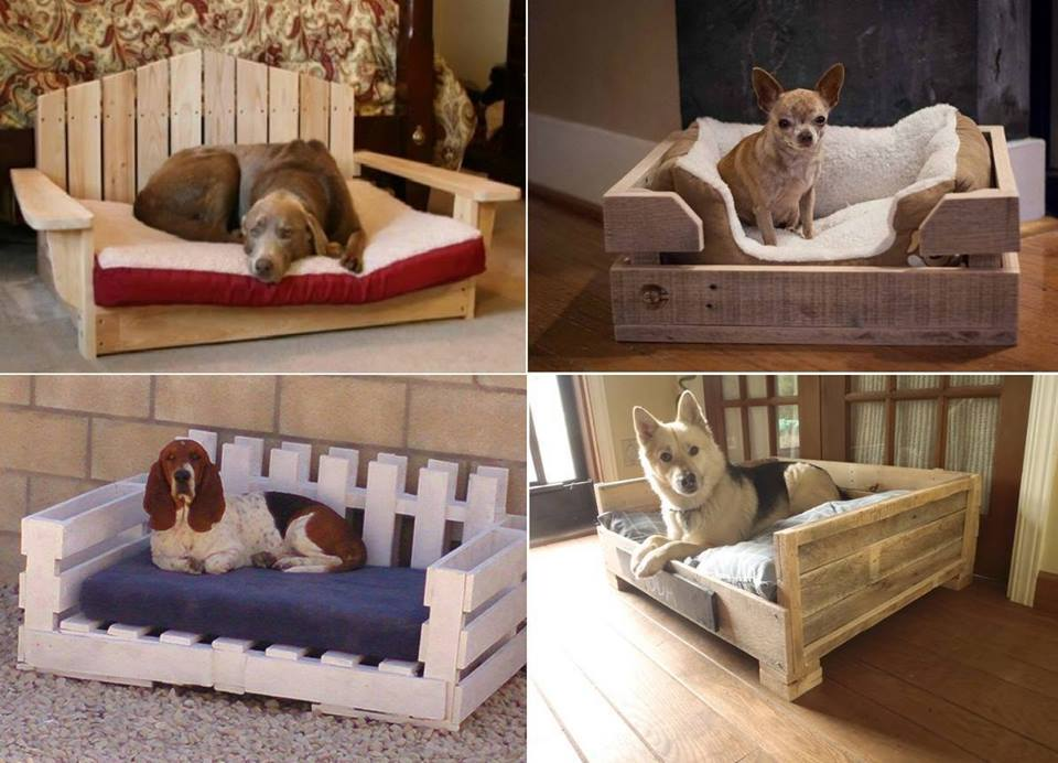 Dog or pet bed made out of pallets emu ridge for Bed made of pallets