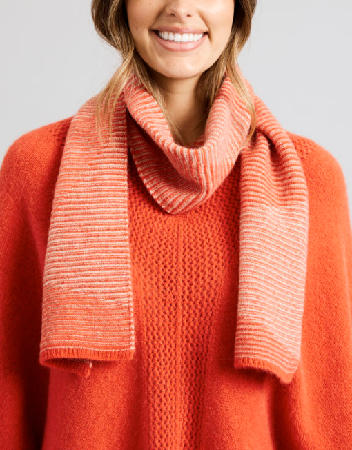 a1971 c s scarf hot coral buff