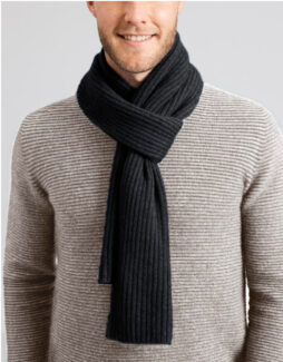 a2070 newlands scarf light charcoal