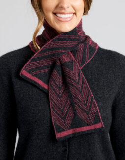 a2079 turner scarf light charcoal red violet