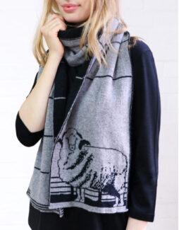t l m scarf silvercharcoal